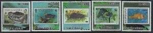 St. Thomas & Prince Islands MNH Set Of 5 Fauna Stamps On Stamps 2009