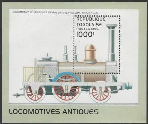Togo #1783A MNH Souvenir Sheet Locomotive