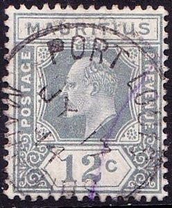 MAURITIUS 1910 12c Greyish Slate SG188 Used