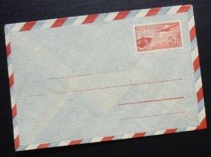 Yugoslavia c1950 Unused Airmail Postal Stationery Envelope - 5 Dinars R! A7