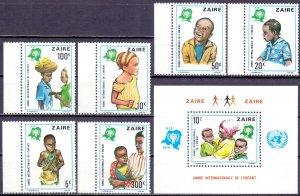 Kinshasa. 1979. 613-18 bl29. Children. MNH.
