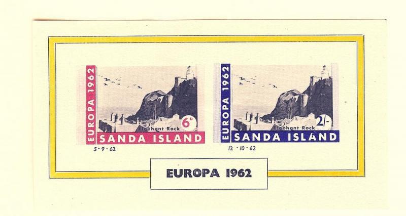 Sanda Island, No Scott, Europa 1962 Imperf S/S (2), MNH
