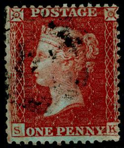 SG24, 1d red-brown PLATE 15, SC14 DIE II, FINE USED. Cat £250. SK