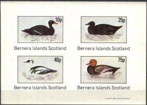 {B282} Bernera Scotland Birds (2) Sh.4 Imperf. MNH Cinderella !!
