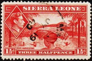 Sierra Leone. 1938 1 1/2d S.G.190 Fine Used