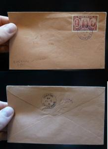 Sarawak 8c Brooke on 1949 cover Engkilili cancel (7bey)