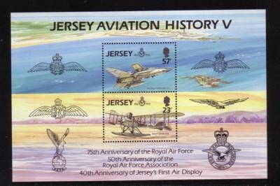 Jersey Sc 639a  1993 75th Anniversary RAF stamp sheet mint NH