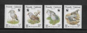 BIRDS - NEW CALEDONIA #798-801  WWF   MNH