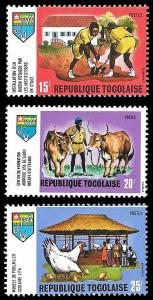 Togo SC 701-703 - Youth Working Pioneers  - MNH -1970