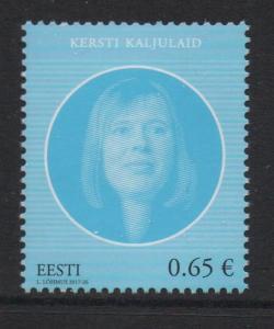 Estonia Sc 853 2017 President Kaljulad stamp mint NH