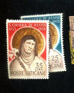 Vatican City #169-170 MINT FVF OG NH Cat$18
