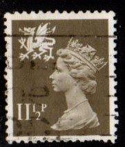 Great Britain - Wales - #WMMH16 Machin Queen Elizabeth - Used