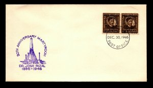 Philippines 1946 50th Anniversary Martyrdom Cover - L22586