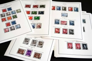 COLOR PRINTED SWEDEN 1941-1970 STAMP ALBUM PAGES (47 illustrated pages)