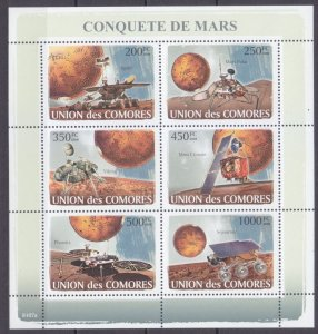2008 Comoro Islands 1946-1951KL Exploration of the Planet Mars 14,00 €
