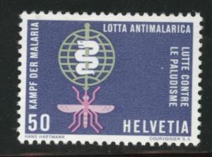 Switzerland Scott 415 MH* 1961 WHO Anti-Malaria stamp