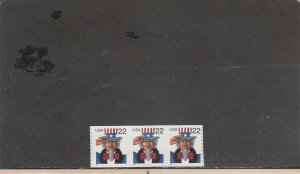 UNITED STATES 3263 MNH PLATE STRIP 3 PLATE 1111 2019 SCOTT CATALOGUE VALUE $3.80