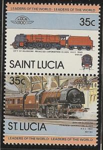 St. Lucia TRAINS mnh  sc# 617