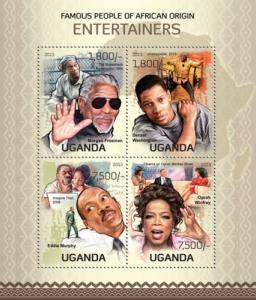 UGANDA 2013 SHEET AFRICAN ORIGIN ENTERTAINERS ACTORS CINEMA ugn13118a