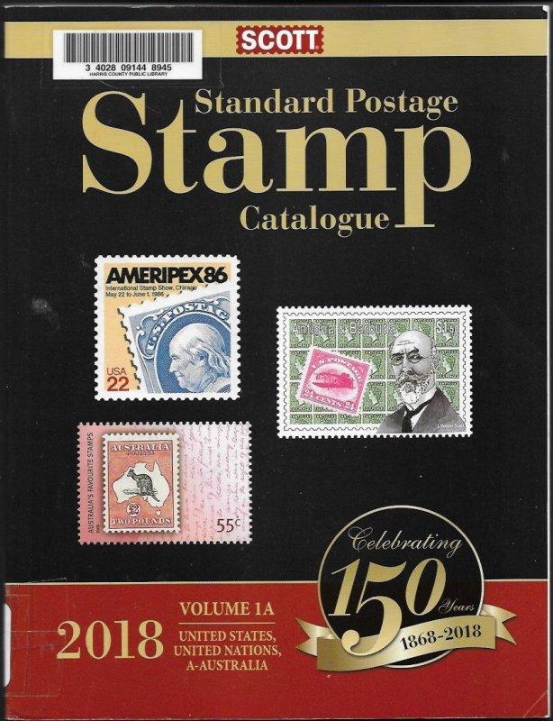 2018 Scott's catalog vol. 1A - USA through Australia - gently used- SEE BELOW