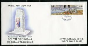SOUTH GEORGIA1995 50th ANNIVERSARY THE END OF WORLD WAR II  SET  FIRST DAY COVER