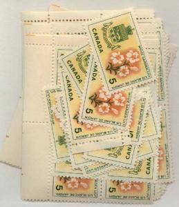 Canada - 1964 5c White Garden Lily X 100 mint #419