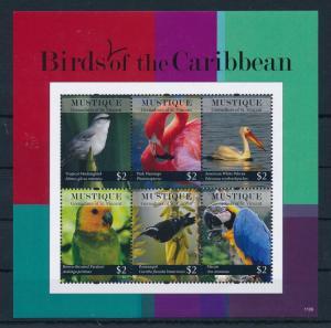 [33107] Mustique St. Vincent 2011 Birds Vögel Oiseaux Ucelli   MNH Sheet