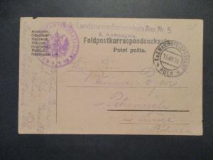 1915 Field Post Feldpost Infantry Battalion Postcard Cover