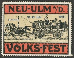 Germany 1913 Volks Fest  Poster Stamp
