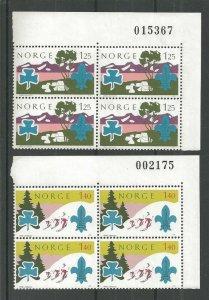 1975 Norway Boy Scout World Jamboree mint NH plate blocks