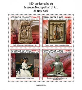 GUINEA - 2021 - Metropolitan Museum of Art - Perf 4v Sheet - Mint Never Hinged
