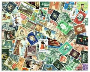 Colombia Stamp Collection - 300 Different Stamps