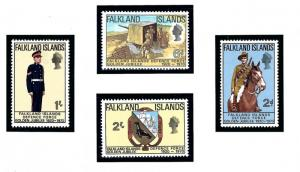 Falkland Is 188-91 MNH 1970 Defense Force Anniv