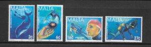 MARINE LIFE - MALTA #946-9 UNDERWATER EXPLORATIONS  MNH