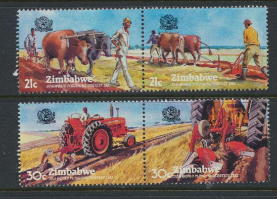 Zimbabwe SG 626a -  SG 628a se-tenant pairs set of 4 Mint Never Hinged