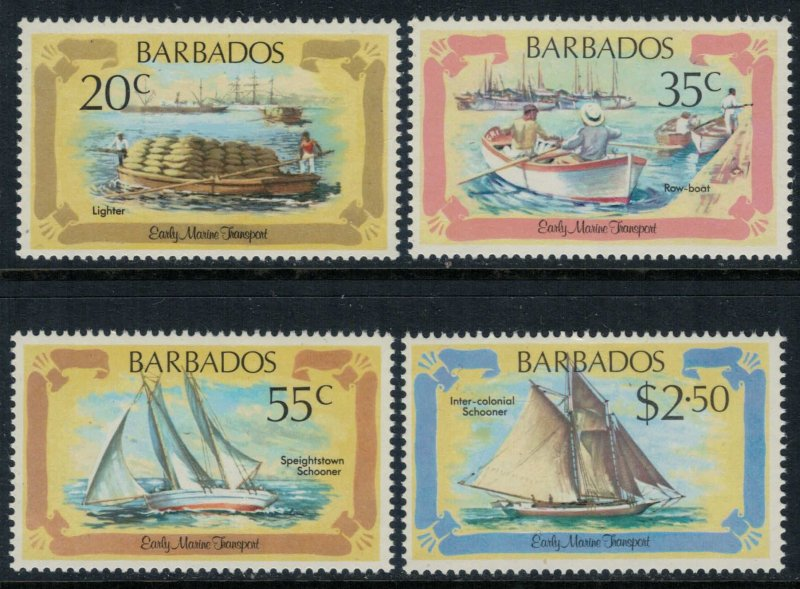 Barbados #577-80* NH  CV $4.00