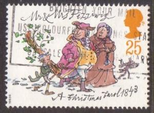 Great Britain 1993 used Christmas  25p  #
