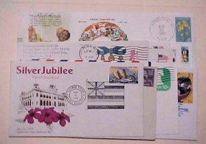 HAWAII  12 DIFF. CACHETED COVERS
