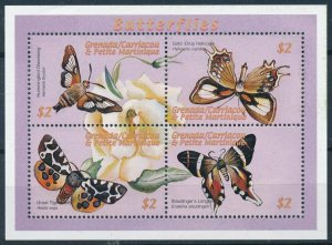 [108920] Carriacou & Petite Martinique 2000 Insects butterflies Mini sheet MNH