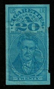 USA IR Revenue stamp, Cigarettes Class A series 106, 20  (TS-362)
