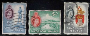 Singapore Scott 40 -42 Used high end stamps