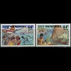 MICRONESIA 1988 - Scott# C37-8 Colonial Era Set of 2 NH
