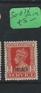 INDIA   PATIALA  (PP2807B)   KGVI  SERVICE   2A    SG 078      MOG