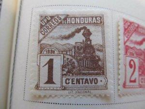Honduras 1898 1c fine mh* stamp A11P12F28