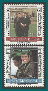 Christmas Island 1986 Royal Wedding, MNH  187-188,SG220-SG221