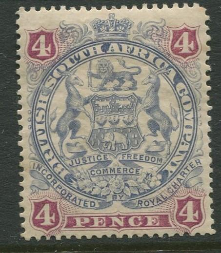 British South Africa - Scott 54 - Arms -1897 - MH - Single 4p Stamp
