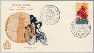 CYCLING - SAN MARINO : Cover with special postmark : GIRO CICLISTICO ITALIA 1959