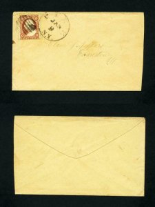 # 26 on cover from Pike, New York to Evanston, Illinois dated 1-9-1850's
