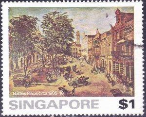 SINGAPORE 1976 $1 Multicoloured 'Raffle Hotel' SG281 FU