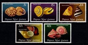 Papua New Guinea 1981 Land Snail Shells, Set [Mint]